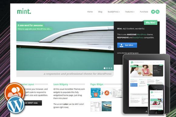 Mint Responsive WordPress Theme