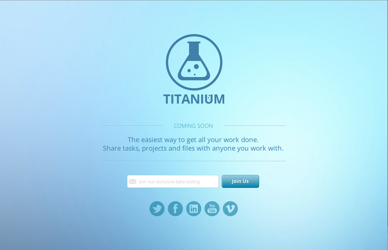 Titanium   Coming Soon Page  HTML5    Website Templates on Creative SzSBeslM