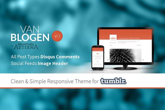 Van Blogen The Tumblr Theme