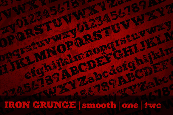 Iron Grunge Font Family