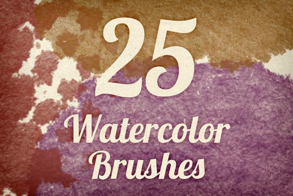 Watercolor Strokes Brush Pack 3