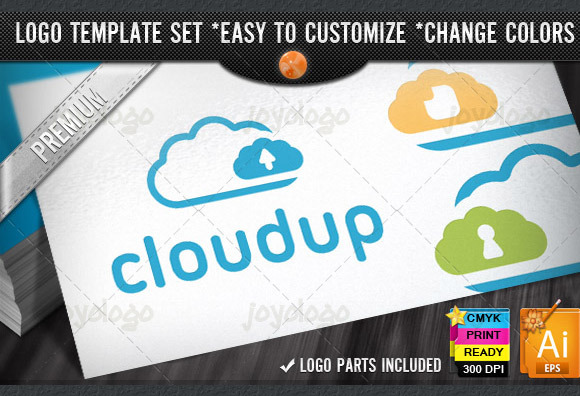 Storage Server Cloud Logo Template
