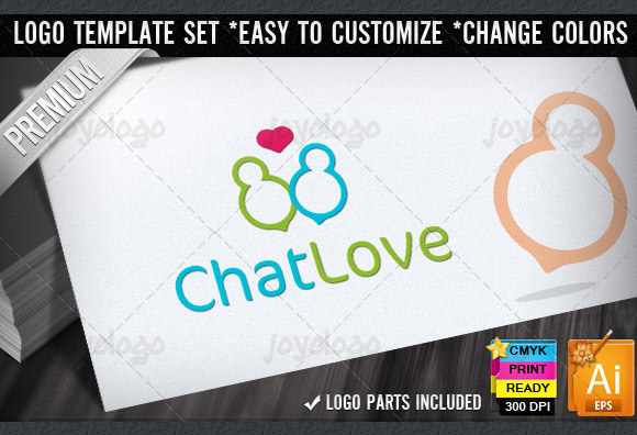 Love People Chat Logo Template