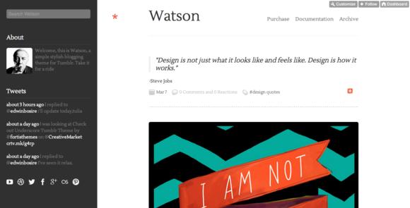 Watson Responsive Tumblr Theme