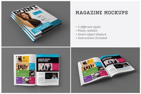 Magazine Mockups - Product Mockups - 1