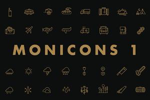 Monicons 1 - 100 icons