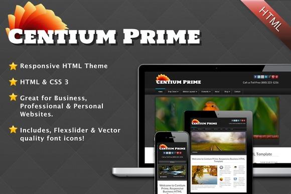 Centium Prime Responsive Template