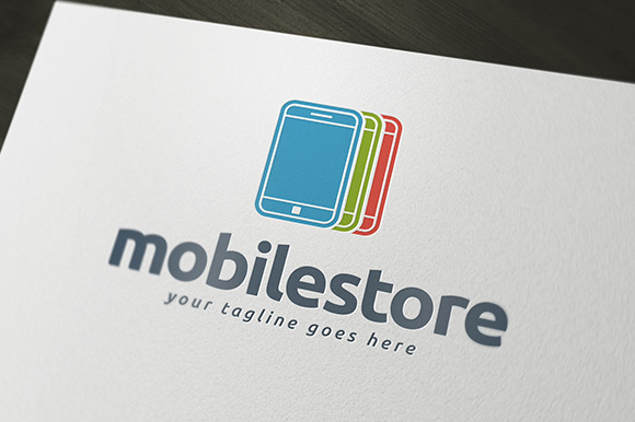 Mobile Store Logo Template