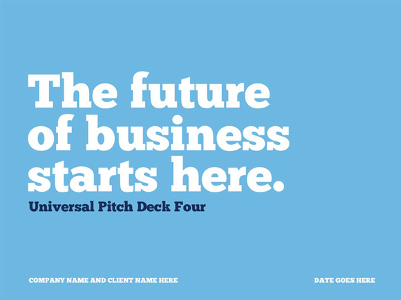 Universal Pitch Deck Four PowerPoint
