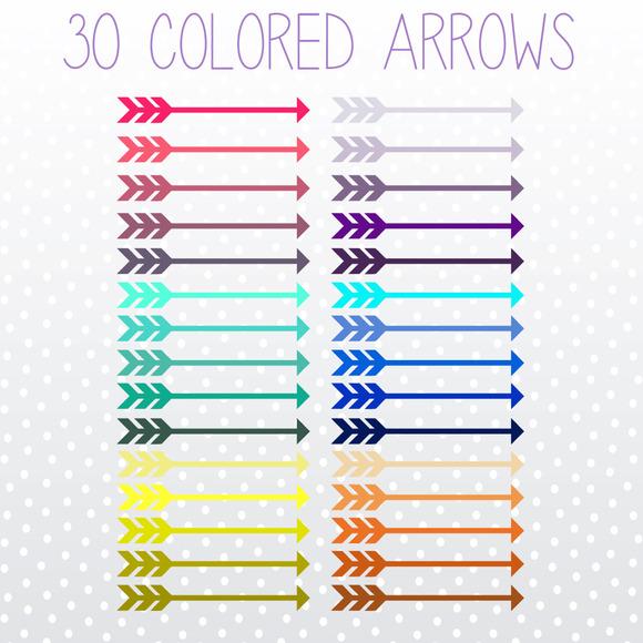 Vintage Arrow Clip Art Colorful Arrow Clip Art