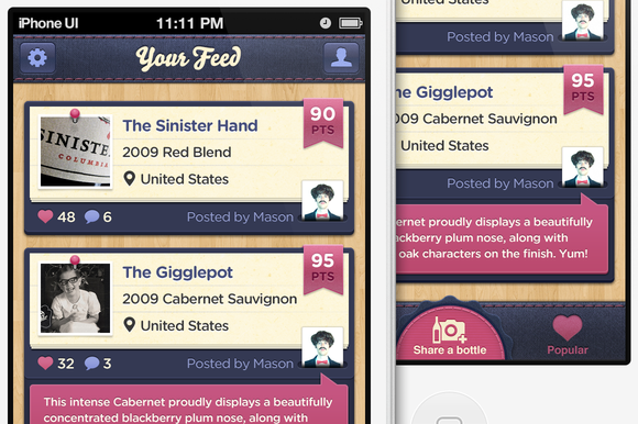 Blueberry IPhone UI Template