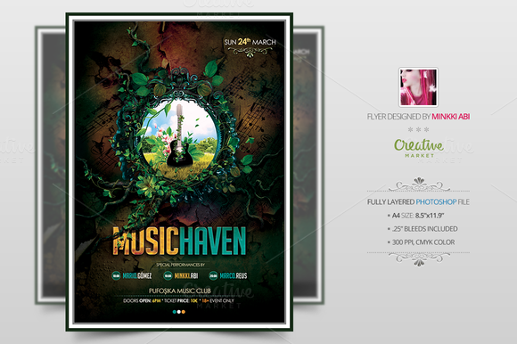 Music Haven Flyer Poster