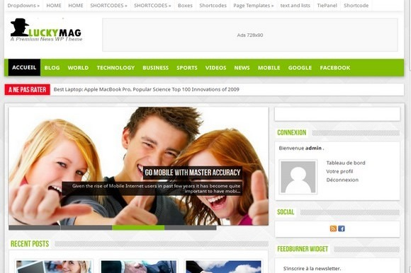 Luckymag Responsive Mag WP Theme