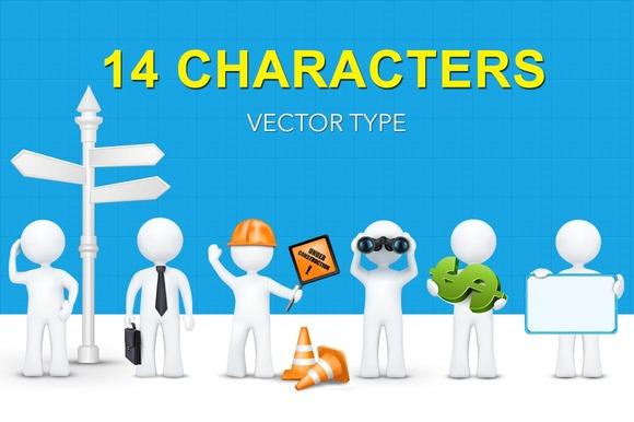 14 3D Characters