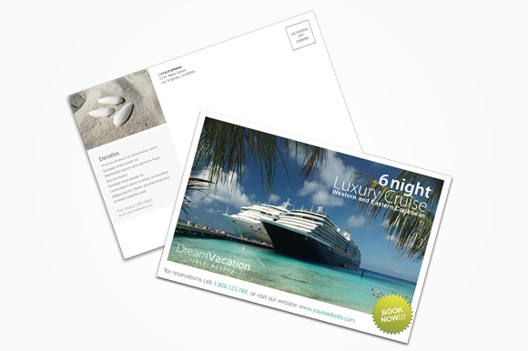 Trvel Agency Postcard