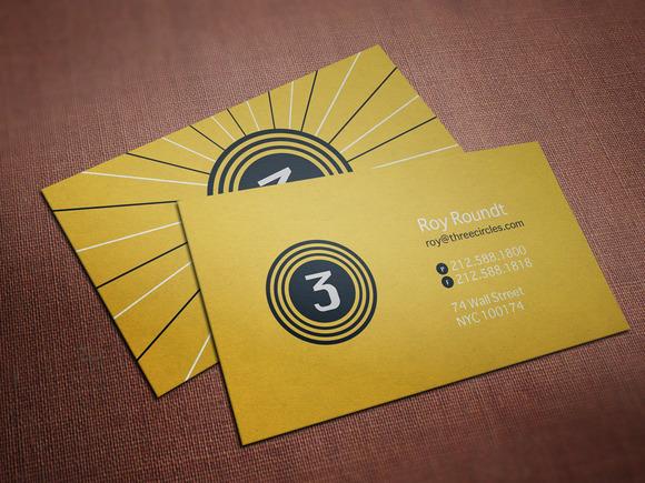 Three Circles Business Card