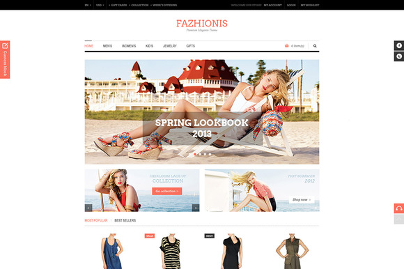 Fazhionis ECommerce PSD Template