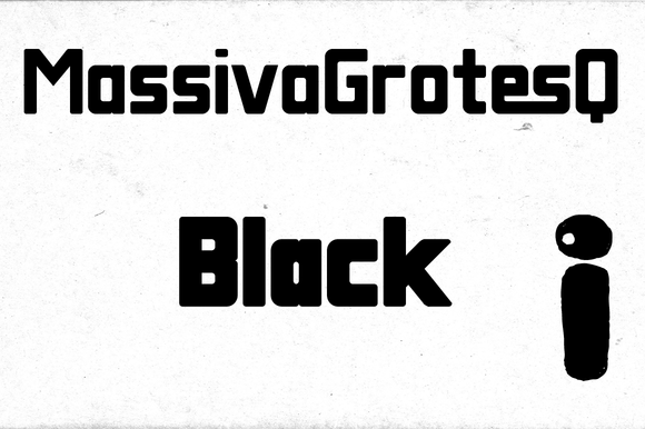 Massiva GrotesQ Black