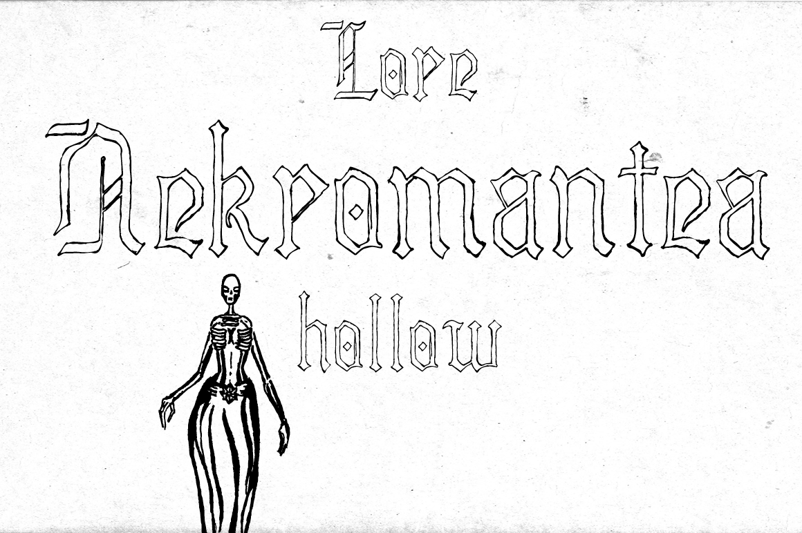 Lore Nekromantea Hollow ~ Blackletter Fonts on Creative Market