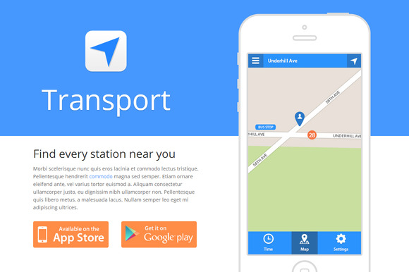 Transport - App Template (HTML/CSS) - Websites - 1