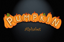 Pumpkin Alphabet and Numbers