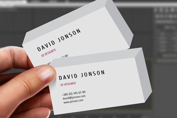 3d business card business card templates on creative market for 3d business card