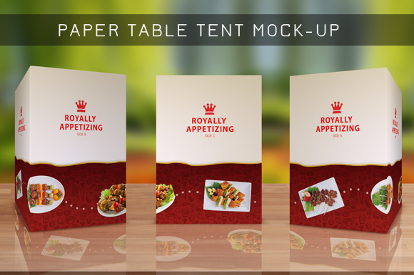 Table Tent Mock Up Template Vol 8 Product Mockups On