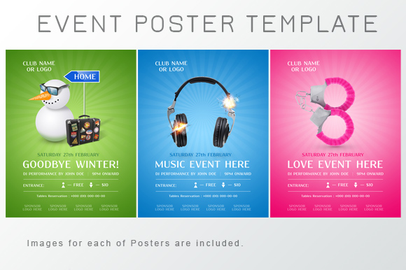 Event Poster Template ~ Flyer Templates on Creative Market