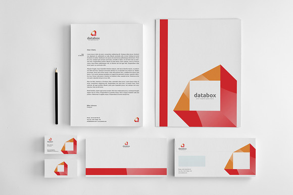 Databox Corporate Identity Stationery Templates On
