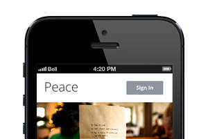 -%60 iPhone App Template. Blue.