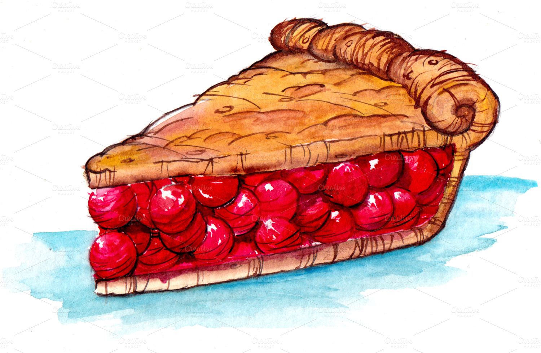 Cherry Pie Clip Art Cherry pie