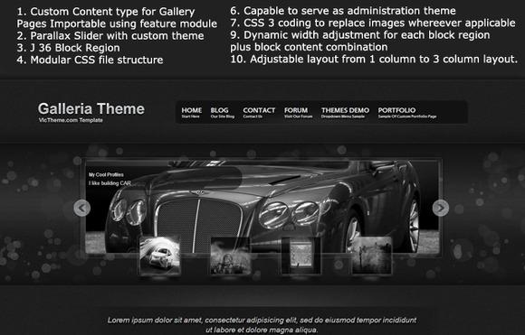 Galleria Premium Drupal 7 Theme