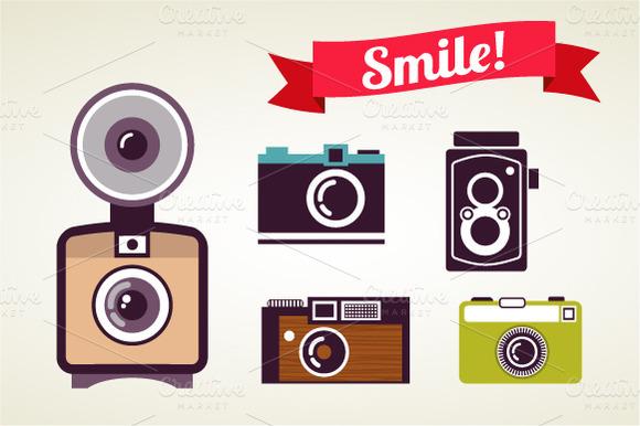 Vintage Camera Set ~ Illustrations on Creative Market
