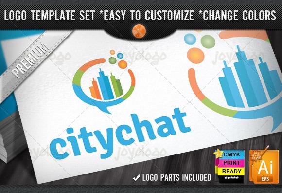 Talk Bubbles Builder City Chat Logo