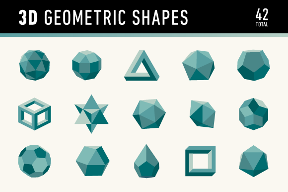 3d Geometric Shapes Graphics On Creative Market