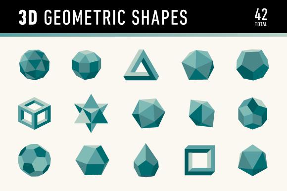 3d geometric shapes graphics on creative market