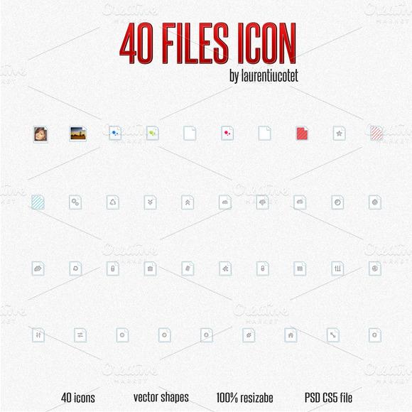 40 Files Icon - Graphics - 1
