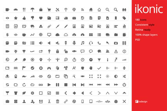Ikonic 180 Icons