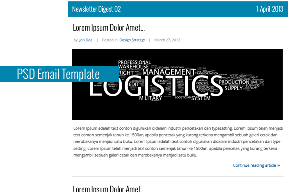 Clean Email Newsletter