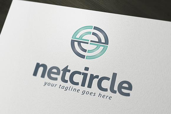 Net Circle Logo Template