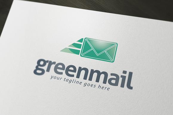 Green Mail Logo Template