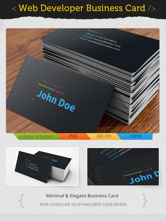 Developers Developers Developers Web Developer Business Card