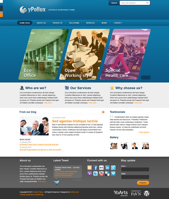 YPollux Corporate Theme PSD