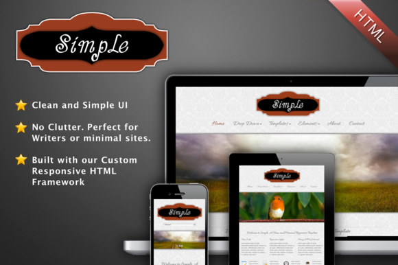 Simple A Minimal HTML Template