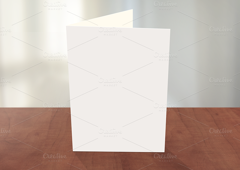 Greeting card photoshop mockup card templates on creative market for Photoshop christmas card template
