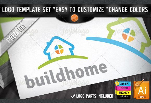 Modern House New Home Builder Logo