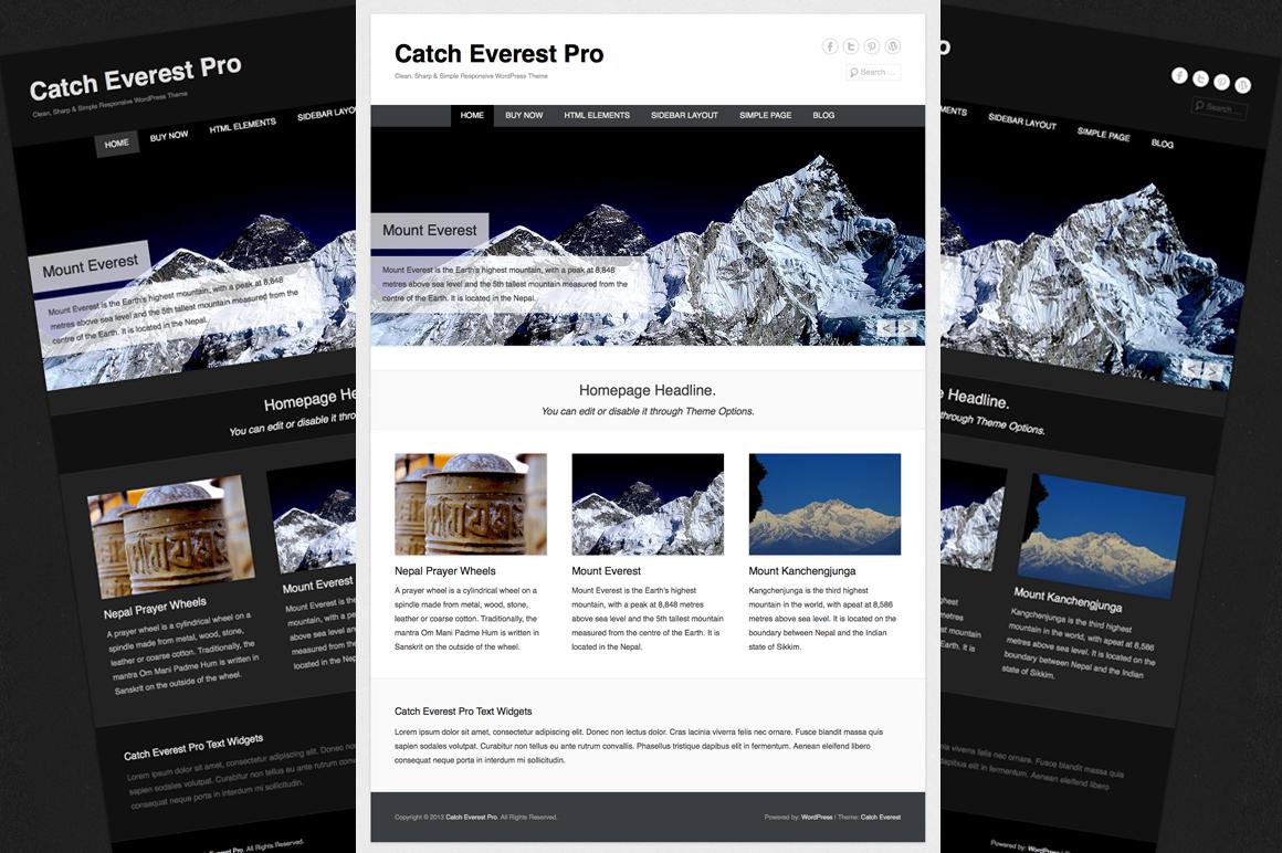 catch everest pro wordpress themes on creative market