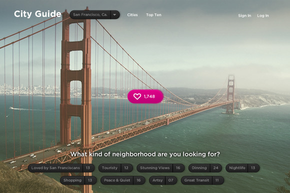 City Guide Travel Page Template