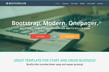 BootScroller one page Bootstrap resp