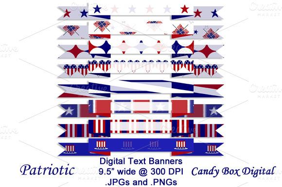 Patriotic Digital Text Banners